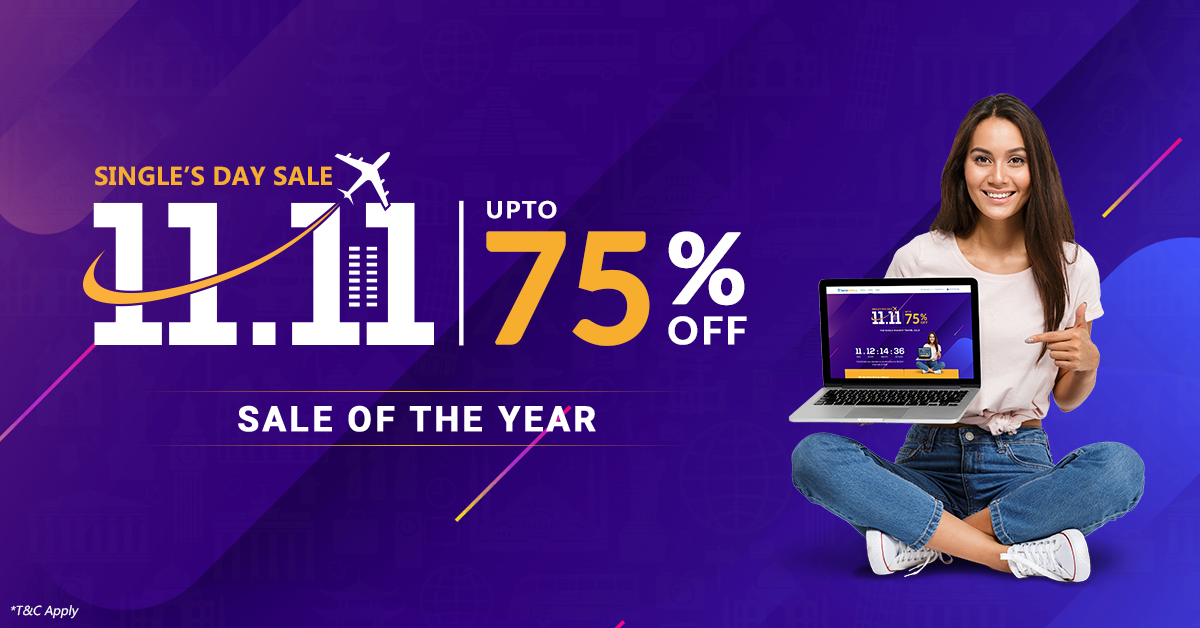 Sastaticket.pk Announces upto 75% off for 11.11